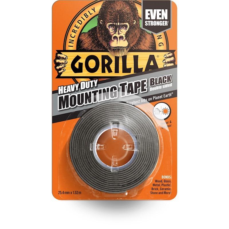 Gorilla Mounting Tape Black Speglalímband