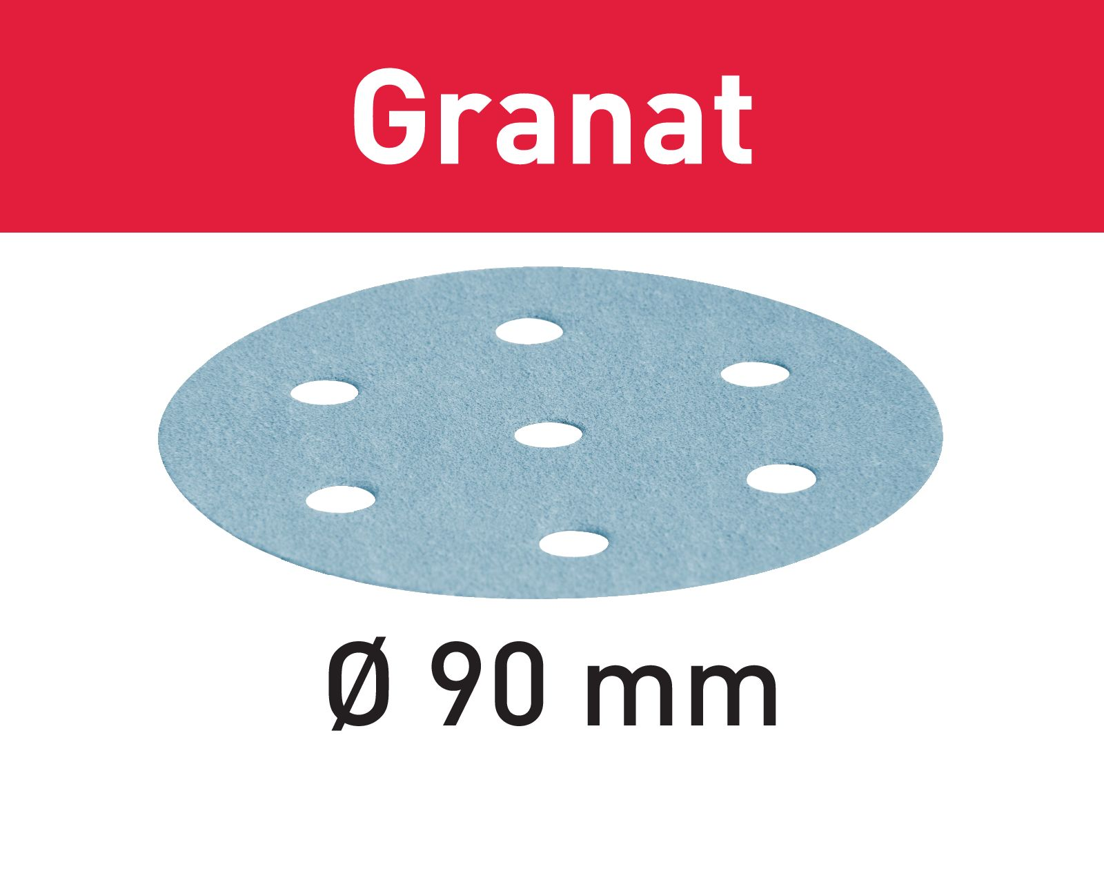 Granat Sandpappír D90Ø