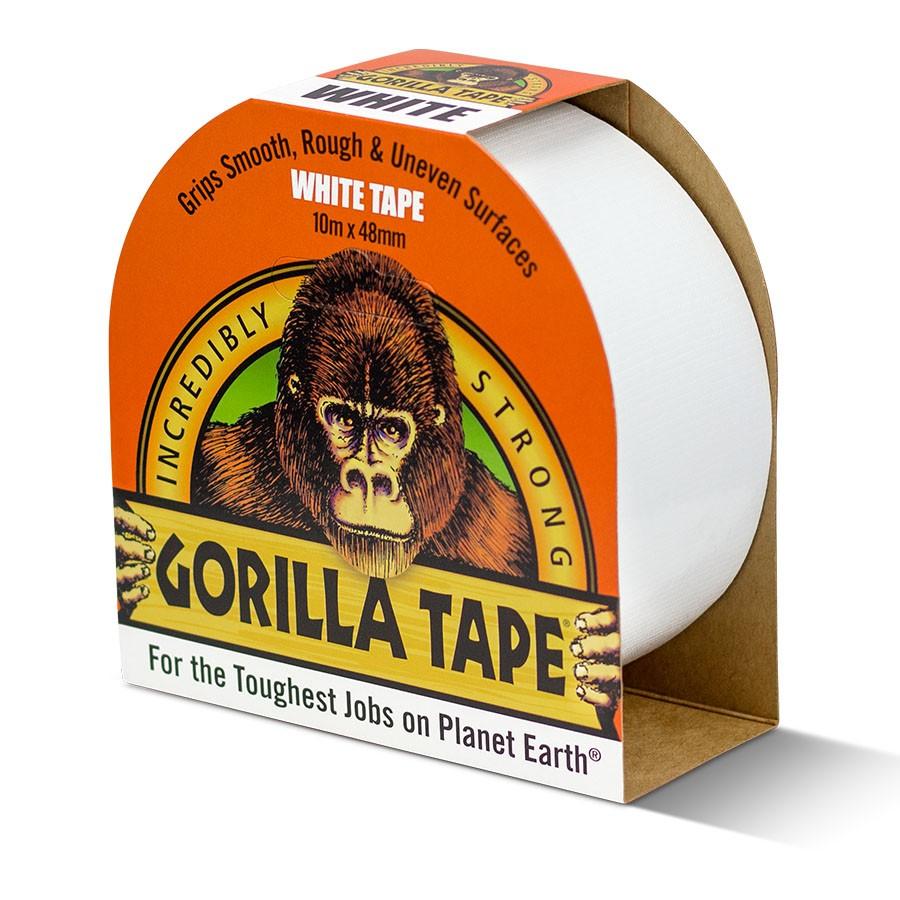 Gorilla Tape 10m hvítt límband