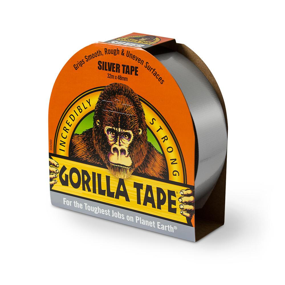 Gorilla Tape 11m silfur límband