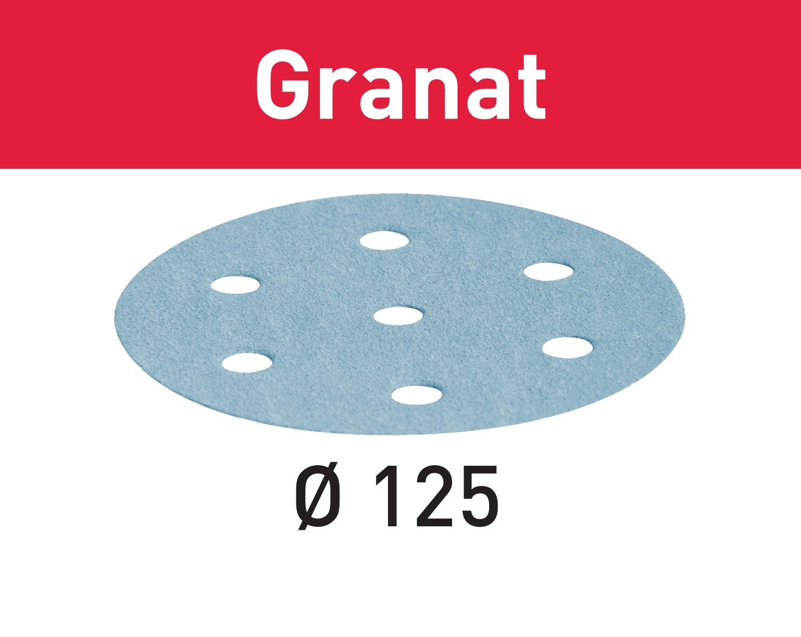 Granat sandpappír 125Ø
