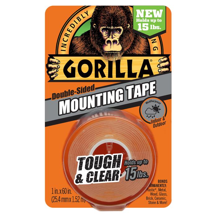 Gorilla Mounting Tape Clear Speglalímband glært